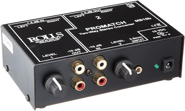 【音響世界】美製ROLLS MB15b立體雙向XLR/RCA/3.5mm DI訊號轉換器(含稅保固)
