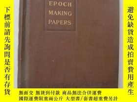 二手書博民逛書店1921年布面精裝罕見EPOCH MAKING PAPERS I