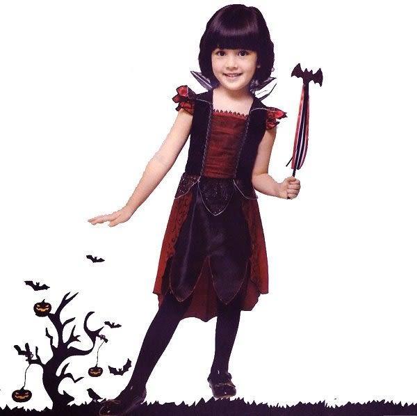 可愛蝙蝠仙 蝙蝠棒小魔女仙女蝴蝶翅膀化妝舞會服裝派對服裝造型服表演服裝角色扮演服兒童用品