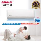 SANLUX台灣三洋 一對一變頻單冷分離式冷氣 時尚型 (SAE-V41F/SAC-V41F) 含基本安裝