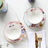 安娜16點英式下午茶咖啡盃碟骨瓷紅茶盃子陶瓷歐式復古茶具套裝 熊貓本