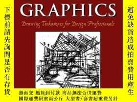 二手書博民逛書店【英文原版罕見】Design Graphics: Drawing Techniques For Design Pr