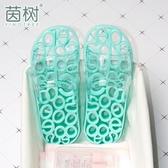 女士浴室洗澡防滑鏤空漏水鞋底家居可愛涼拖塑料腳底室內按摩拖鞋 台北日光