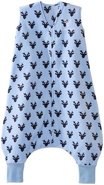 [寶媽咪親子館]美國Halo Sleepsack 防踢背心 防踢睡袍 防踢被 秋冬刷毛款Blue OH Deer【XL】