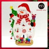 【摩達客】繽紛耶誕創意DIY小擺飾木質大雪人組(白色款)-聖誕禮物擺飾