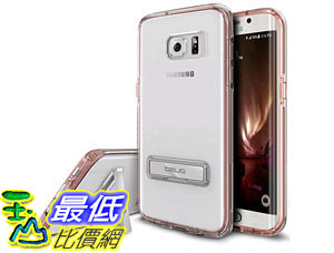 [105美國直購] 保護殼 Galaxy S7 Edge Case Metal Kickstand Slim Fit Crystal Clear Scratch Resist Heavy Duty B01BAUMVLO