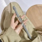 小眾品牌手錶女ins風學生簡約氣質輕奢復古方形森系細帶小巧女表