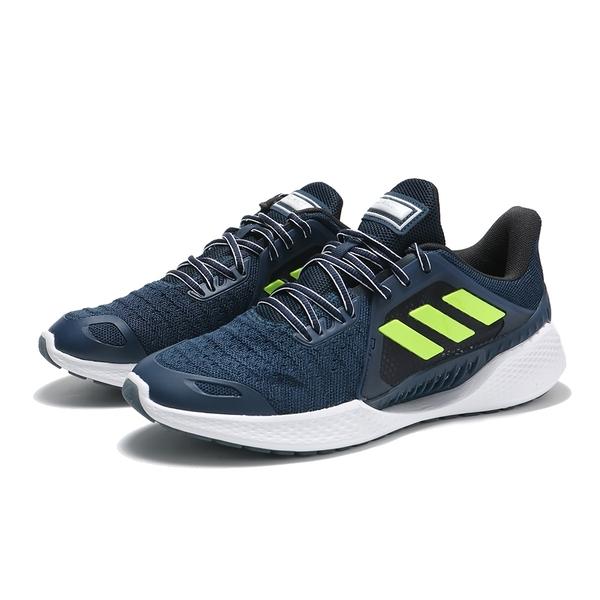 ADIDAS 慢跑鞋 CLIMA COOL VENT SUMMER 深藍 螢光 透氣 休閒鞋 男 (布魯克林) FW3012