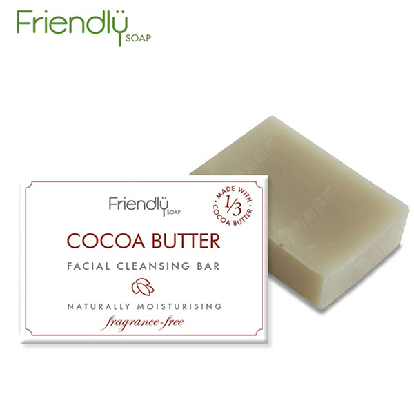 英國 FRIENDLY SOAP 富樂皂 可可脂平衡潔顏皂 (95g)