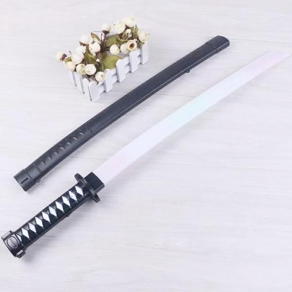 LED武士刀 日本 武士 發光武士刀 武士刀(帶劍殼) 70CM表演刀 玩具刀 忍者刀【塔克】