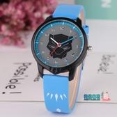 男童手錶 新款兒童手錶男孩電子防水石英錶中小學生男童時尚簡約皮質帶指針錶