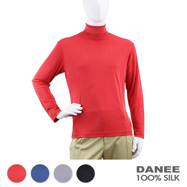 【岱妮蠶絲】CN3289R雙面平紋高領蠶絲長袖上衣