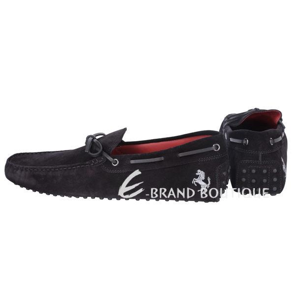 TOD'S FOR FERRARI GOMMINO 麂皮豆豆休閒鞋(黑色) 1620003-01
