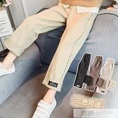 2020春秋季新款女童毛呢闊腿褲子韓版洋氣中大童兒童寬鬆休閒長褲 母親節特惠