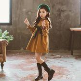 女童洋裝女童洋氣裙子秋裝新款韓版中大童兒童長袖公主裙 zm9584『男人範』