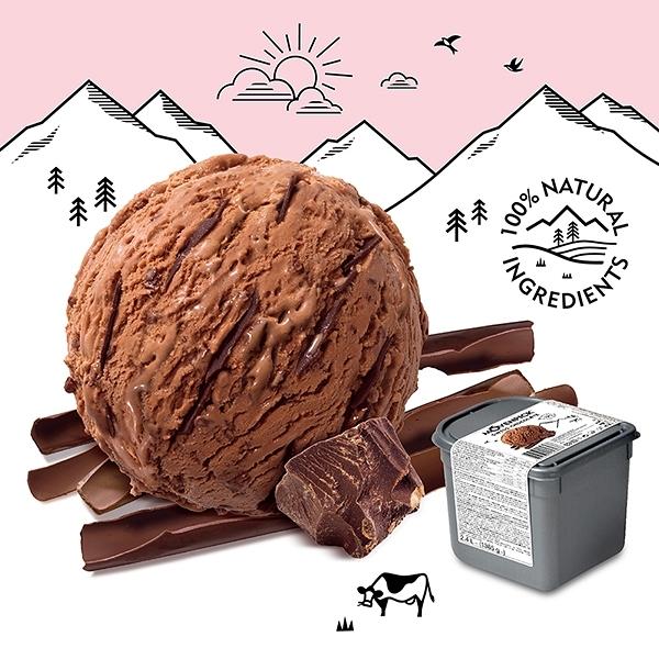 【瑞士原裝進口】Movenpick 莫凡彼冰淇淋 金典巧克力2.4L家庭號