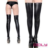 情趣用品 CICILY金屬拉鍊高筒 漆皮長筒襪大腿襪