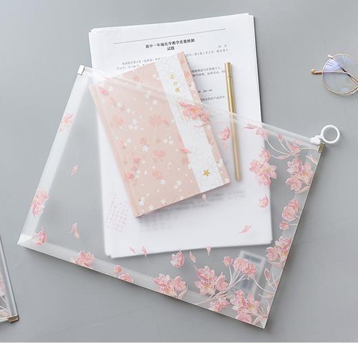 【4個裝】文件袋學生用可愛卡通拉鏈袋大容量簡約【極簡生活】