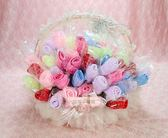 一定要幸福哦~~玫瑰花束毛巾~婚禮小物、結婚宴客、二次進場