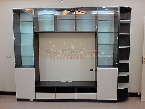 【歐雅系統家具】電視玻璃櫃