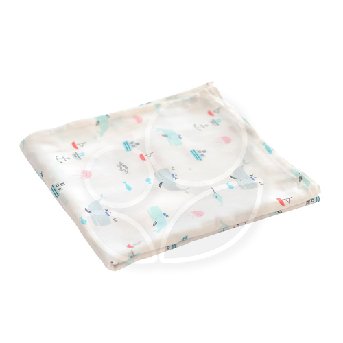 tiny twinkle - Swaddle Blanket Single 紗布巾(鯨魚)TT-1126【佳兒園婦幼館】