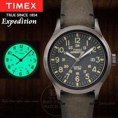 TIMEX美國第一品牌Expedition遠征系列真皮腕錶TXT4B01700公司貨/情人節/禮物/聖誕節