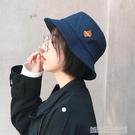 日系漁夫帽子女春夏天休閒遮陽防曬太陽帽男情侶潮韓版字母盆帽