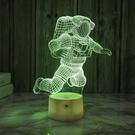 宇航員3d小夜燈usb接口插電床頭氛圍燈臥室護眼燈酒吧桌面裝飾燈ATF 韓美e站