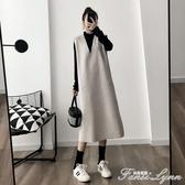 初秋季年新款網紅連身裙顯瘦大碼胖mm時尚兩件套裝洋氣減齡女 范思蓮恩