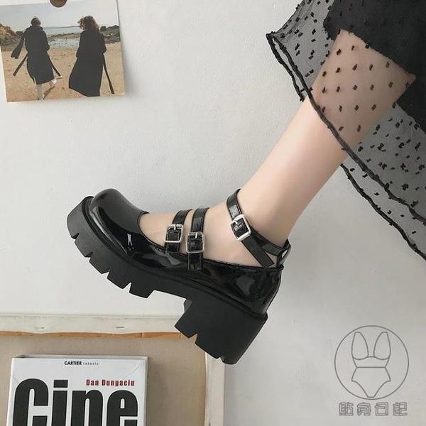 赫本瑪麗珍女鞋厚底松糕小皮鞋日系女jk制服鞋復古粗跟英倫風單鞋【貼身日記】