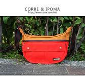 CORRE【CG71067帆布撞色斜背包】共三色 紅/土耳其藍/馬卡龍綠