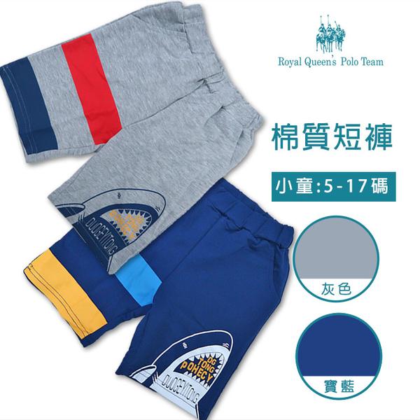 男童鯊魚棉短褲 *2色 [7662] 5-17碼 春夏 RQ POLO 童裝 現貨