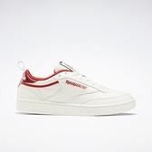 Reebok Club C 85 [FX3358] 男女鞋 運動 休閒 健身 日常 耐磨 簡約 復古 情侶 穿搭 白 紅