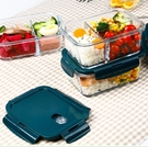 便當盒 玻璃飯盒可微波爐加熱專用學生上班族餐盒格保鮮保溫分隔型便當碗【快速出貨八折鉅惠】