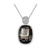 水晶項鍊+925純銀吊墜-水月鏡花情人節生日禮物女飾品3色73bb229【時尚巴黎】