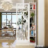 原創現代簡約孔雀雙面間廳玄關櫃隔斷置物架屏風裝飾櫃隔斷櫃MBS『潮流世家』