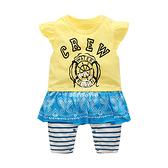 超低折扣NG商品~嬰兒短袖兔裝  假兩件寶寶連身裝 裙兔裝 嬰幼兒童裝 CAB22326 好娃娃