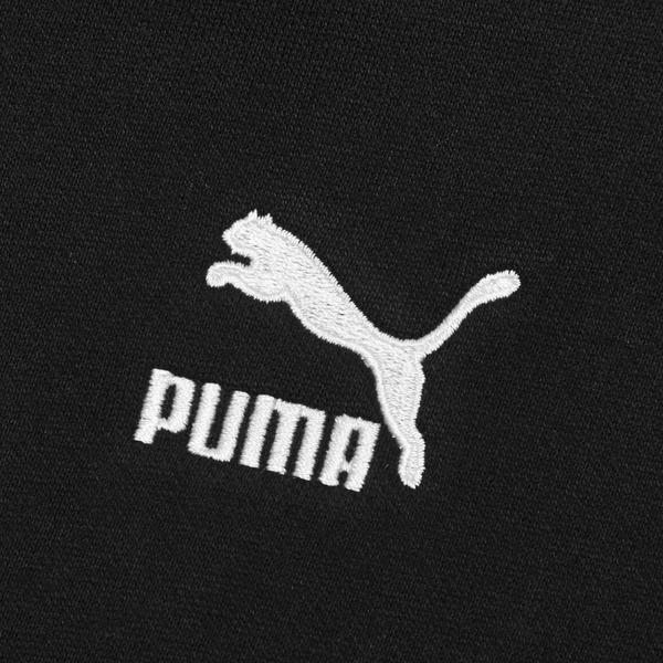 PUMA CLASSICS 女裝 長袖 帽T 棉質 OVERSIZE 刷毛 休閒 黑 歐規【運動世界】53028001