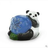 熊孩子☃動物草坪音箱 熊貓青蛙企鵝戶外防水音響園林公共廣播喇叭(CPY-19熊貓抱球)