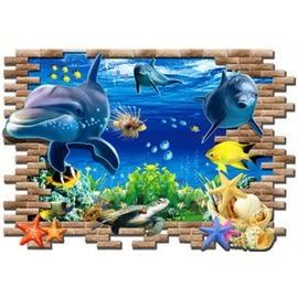 【收藏天地】創意生活*3D海底世界壁貼/ 家飾 居家 裝飾 佈置 環保