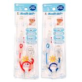 日本 Akanbou 夜光珠奶嘴鍊 UV Check奶嘴鍊 (藍/橘) 香草奶嘴適用 0888 好娃娃