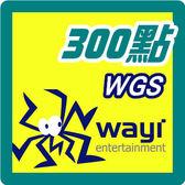 華義國際 WGS卡300點 點數卡 - 可刷卡【嘉炫電腦JustHsuan】