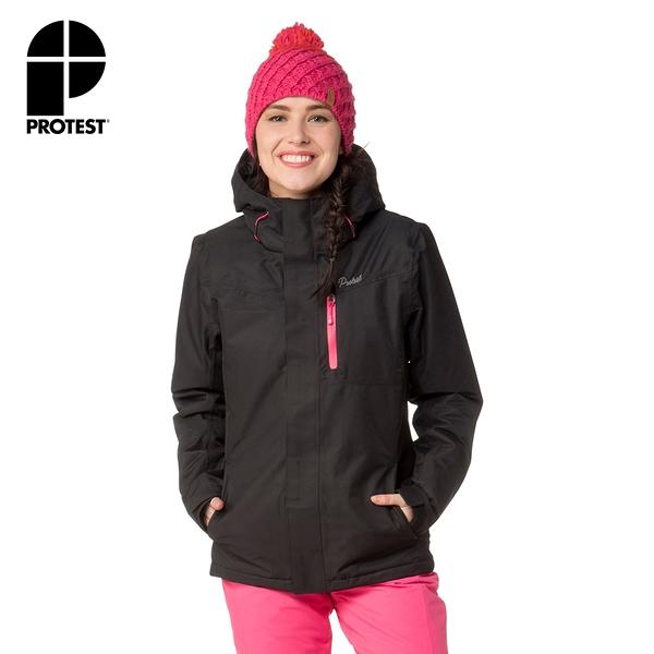PROTEST 女 機能防水保暖外套 (真實黑) AUBURN SNOWJACKET