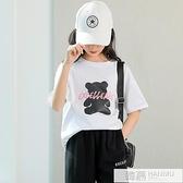 女童短袖t恤純棉夏裝2021新款韓版兒童寬鬆洋氣潮夏季中大童上衣T 夏季新品