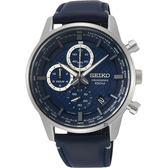 SEIKO精工 CS 城市系列計時手錶-藍/42mm 8T67-00G0B(SSB333P1)