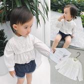 嬰童裝嬰兒春裝公主女童衫長袖襯衫小立領