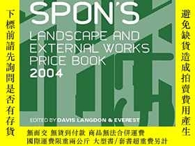 二手書博民逛書店Spon s罕見Landscape and External Works Price Book 2004-Spon