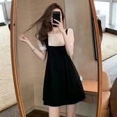 洋裝 網紗拚接連身裙-媚儷香檳-【D1617】