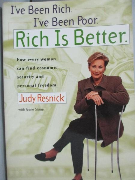 【書寶二手書T7/投資_LPI】I ve Been Rich I ve been Poor_RESNICK