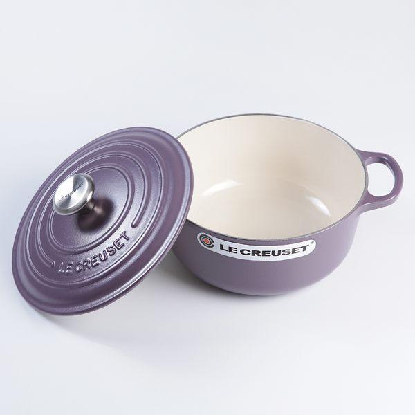 Le Creuset 新款圓形琺瑯鑄鐵鍋 20cm 2.4L 紫水晶 法國製【Casa More美學生活】